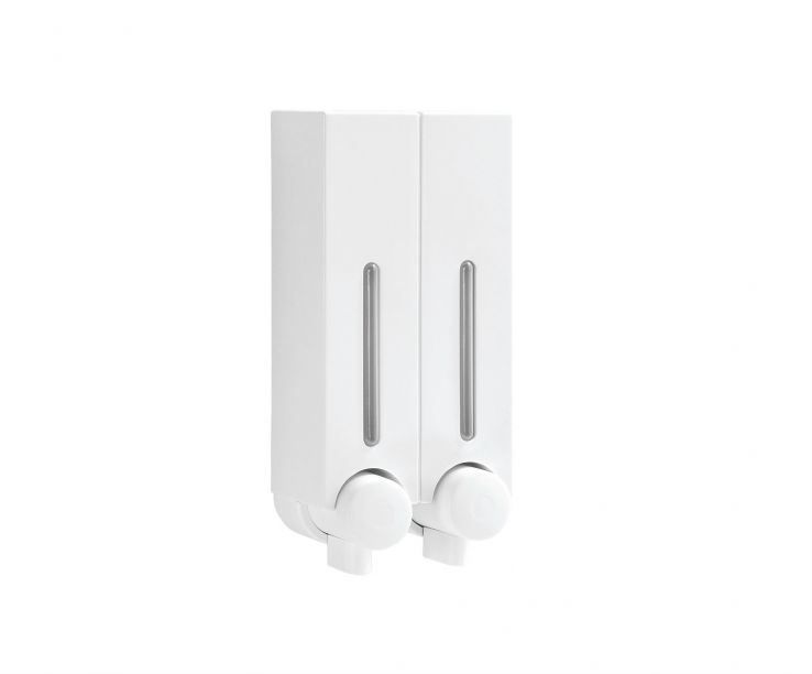 Dispensador de pared doble blanco