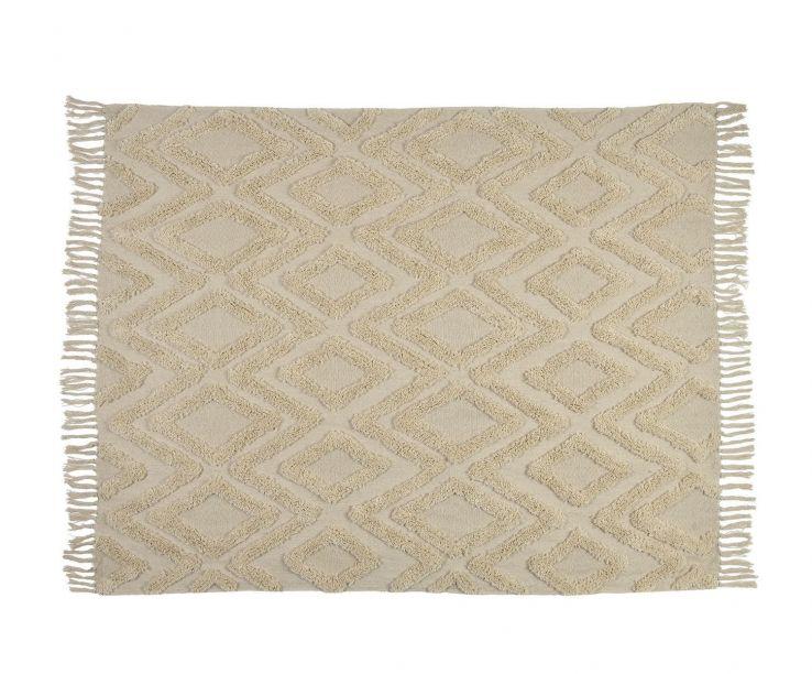 Cubrecama de algodón con rombos