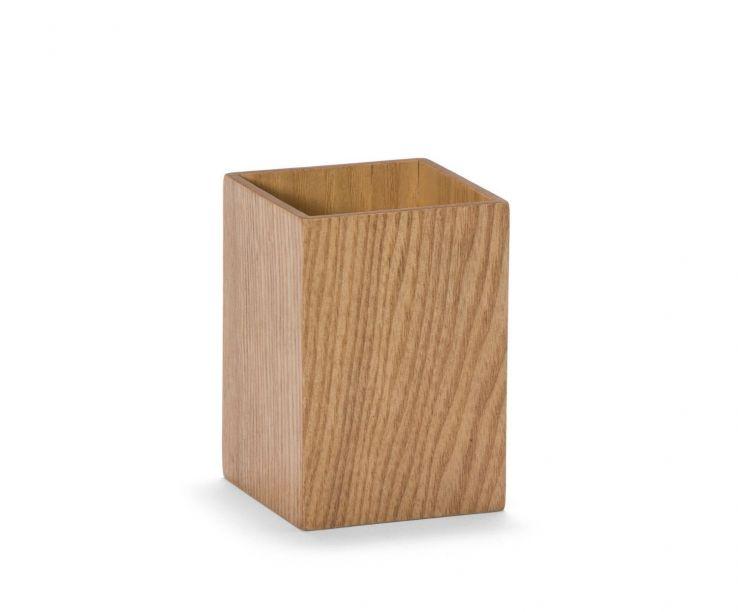 Lapicero rectangular de madera de sauce