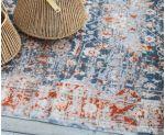 Detalle de alfombra de algodón desgastada Rose