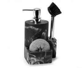 Dispensador negro con set de limpieza