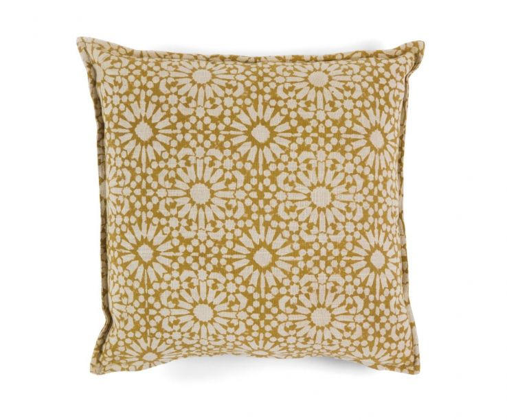 Cojín de algodón estampado Marigold
